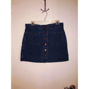 GAP - Denim Button Down Mini Skirt